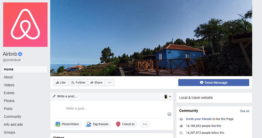 Airbnb Facebook