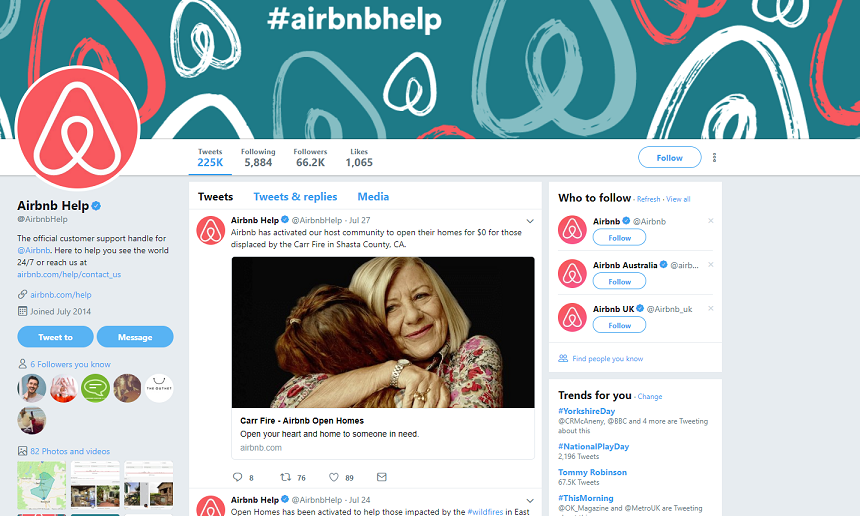 Airbnb Twitter