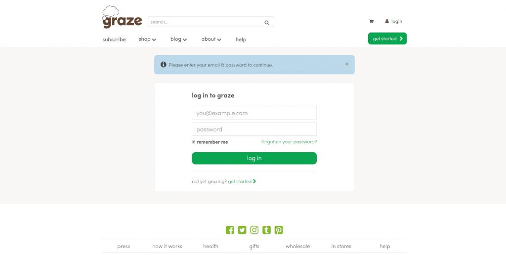cancel graze subscription