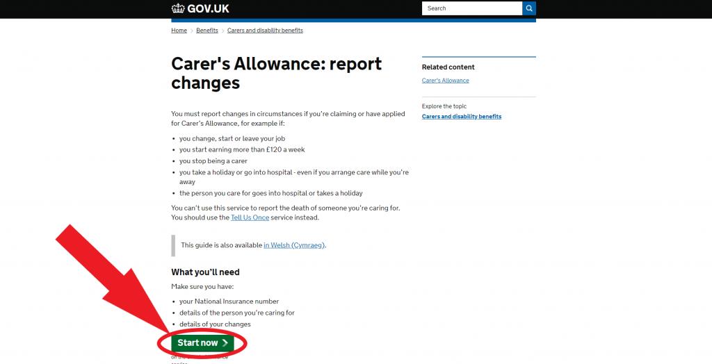 cancel carers allowance