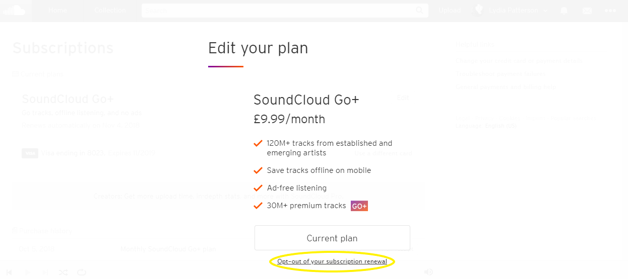 How to Cancel Soundcloud Go in 2018