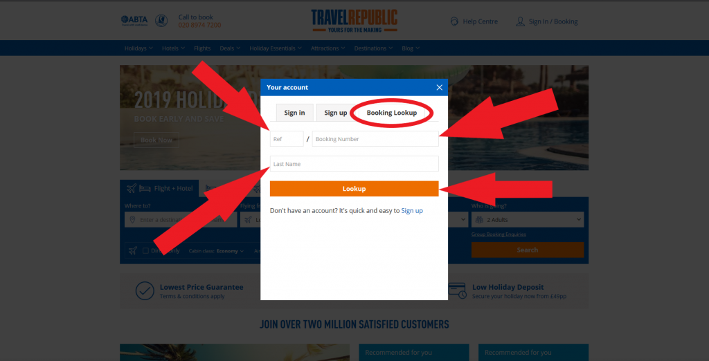 travel republic cancel booking