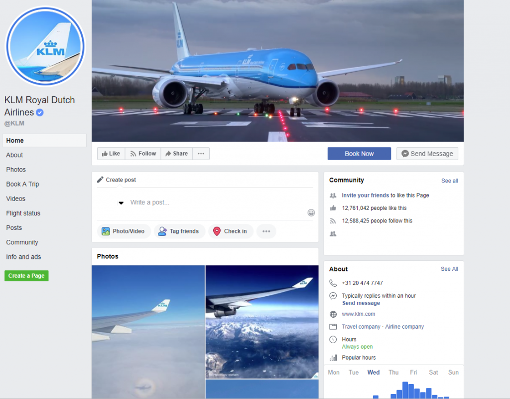 KLM Cancel Flight Facebook