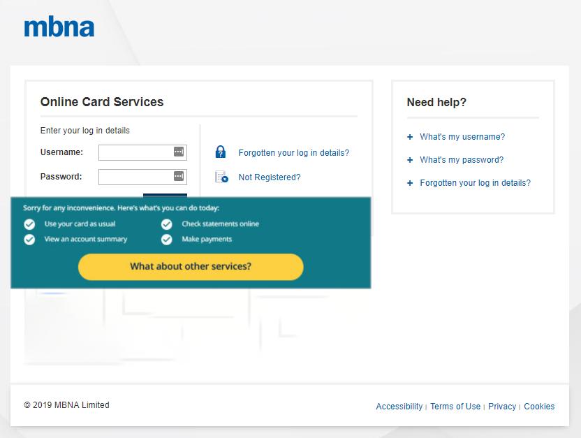 Amazon Credit Card Login Mbna