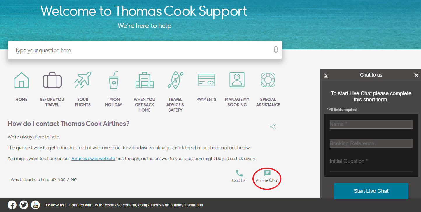 How to Cancel a Thomas Cook Flight